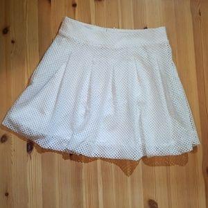Banana Republic Honeycomb Eyelet Skirt Size 2